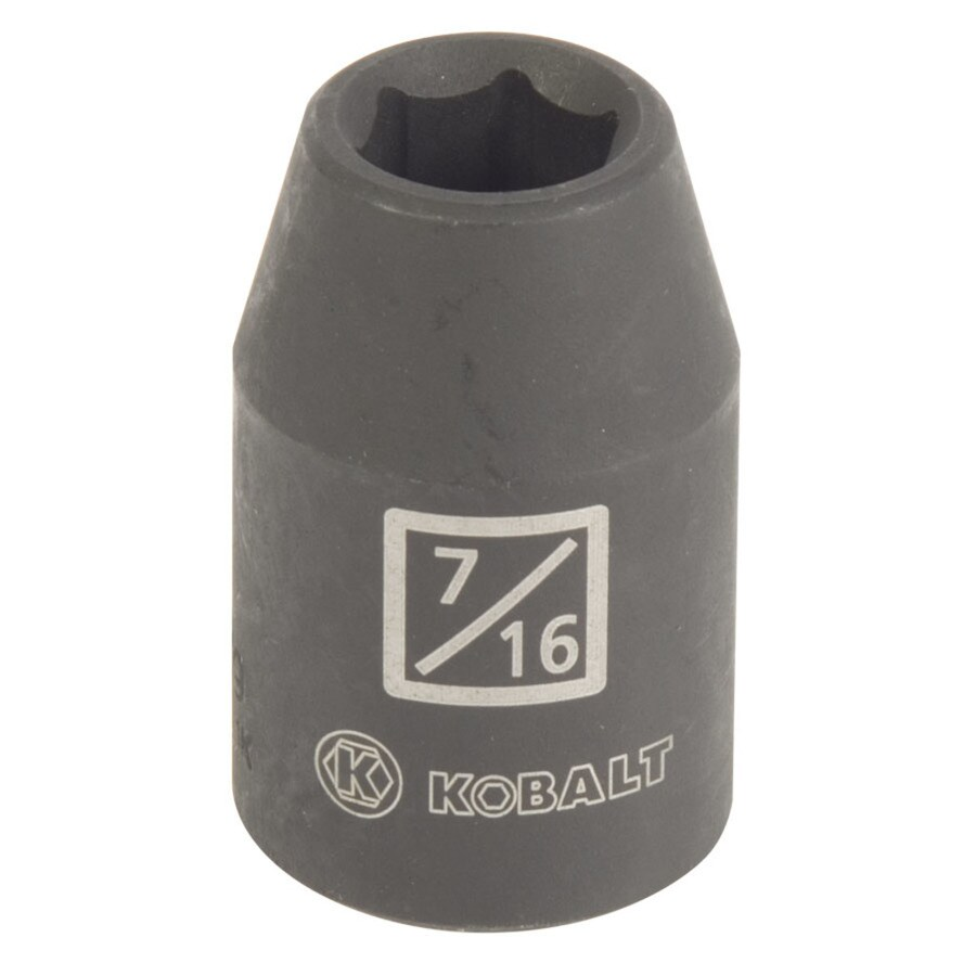 Kobalt 1/2-in Drive 7/16-in Shallow Standard (SAE) Impact Socket