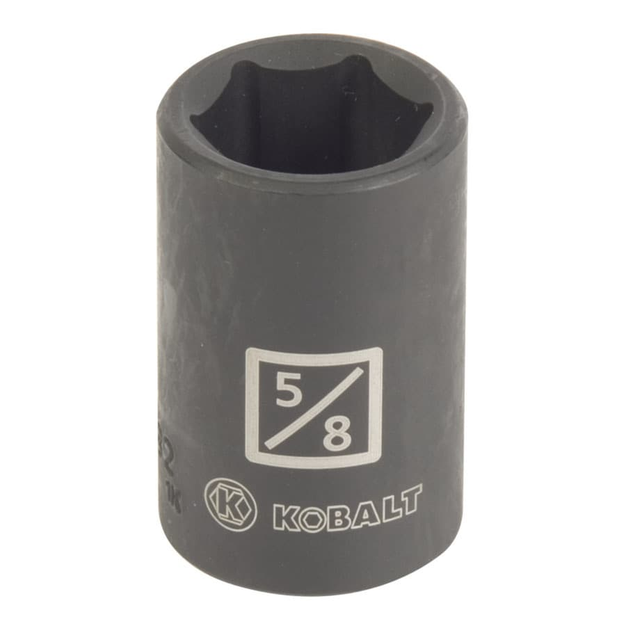 Kobalt 1/2-in Drive 5/8-in Shallow Standard (SAE) Impact Socket