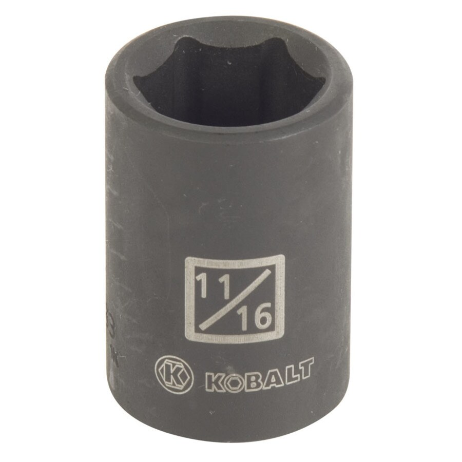Kobalt 1/2-in Drive 11/16-in Shallow Standard (SAE) Impact Socket