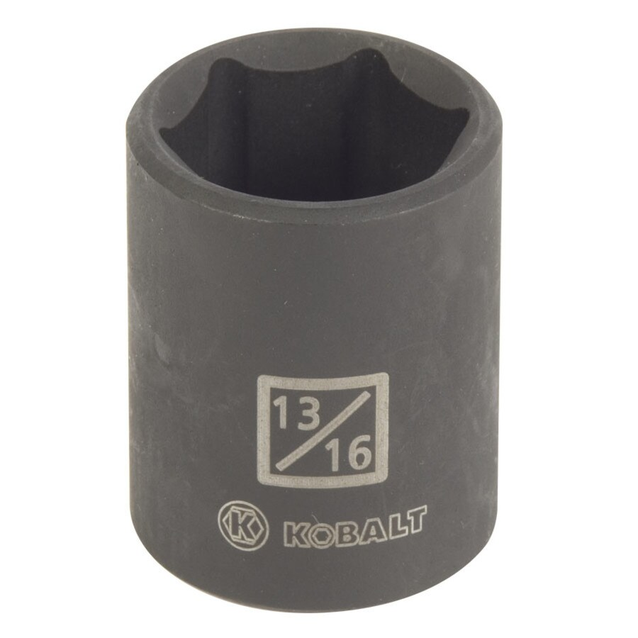 Kobalt 1/2-in Drive 13/16-in Shallow Standard (SAE) Impact Socket