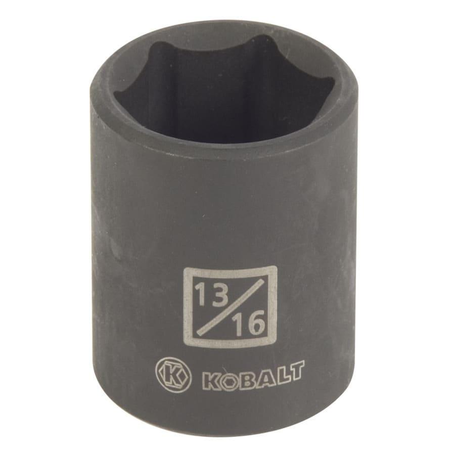 Kobalt 1/2-in Drive 13/16-in Shallow Standard (SAE) Impact Socket