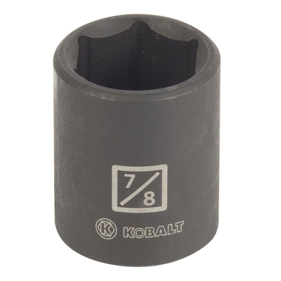 Kobalt 1/2-in Drive 7/8-in Shallow Standard (SAE) Impact Socket