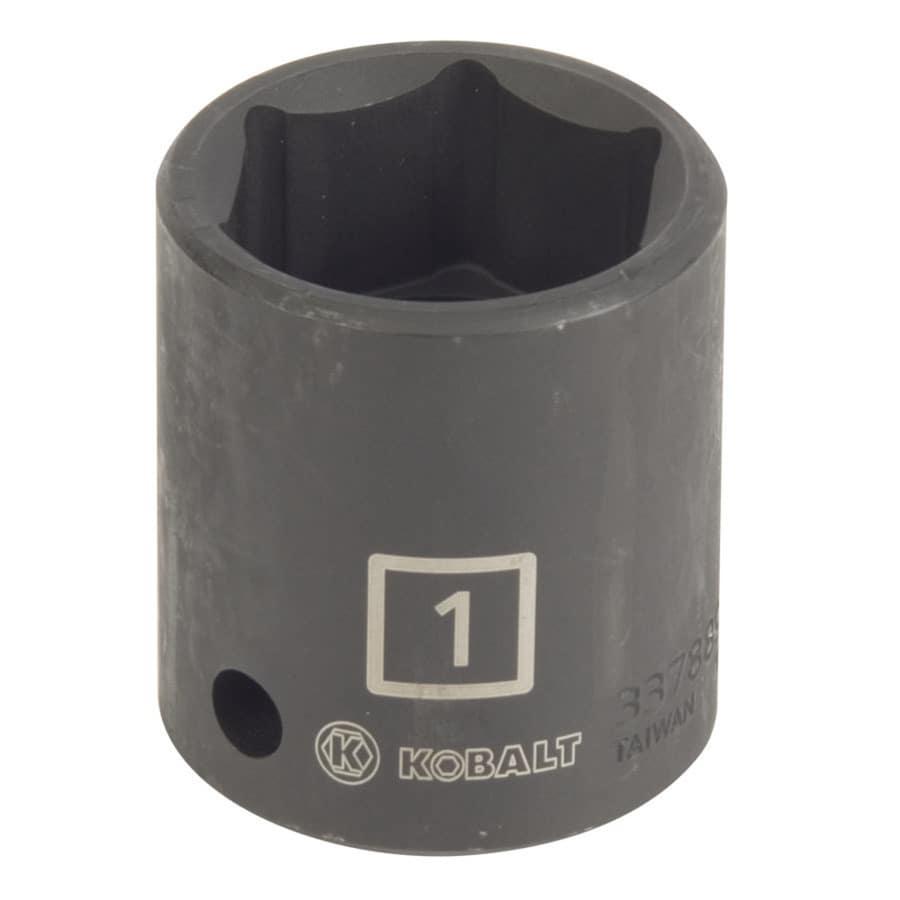 Kobalt 1/2-in Drive 1-in Shallow Standard (SAE) Impact Socket