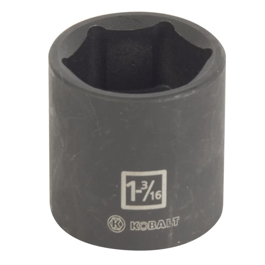 Kobalt 1/2-in Drive 1-3/16-in Shallow Standard (SAE) Impact Socket