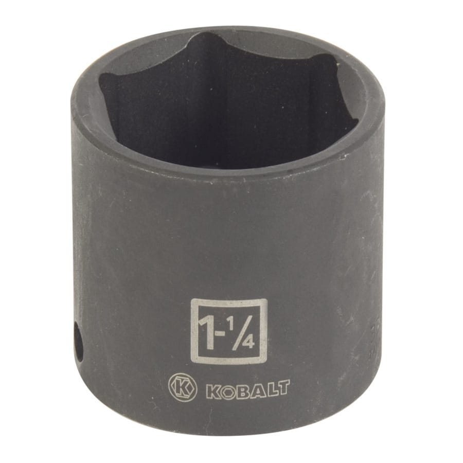 Kobalt 1/2-in Drive 1-1/4-in Shallow Standard (SAE) Impact Socket