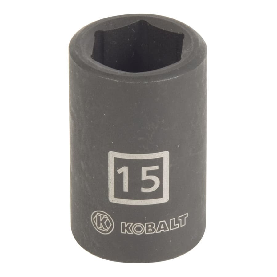 Kobalt 1/2-in Drive 15mm Shallow 6-Point Metric Impact Socket