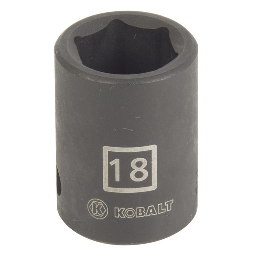 Kobalt 1/2-in Drive 18mm Shallow 6-Point Metric Impact Socket