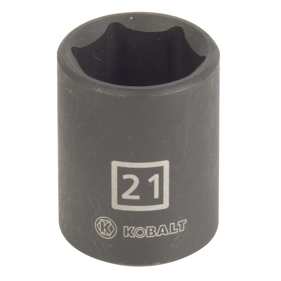 Kobalt 1/2-in Drive 21mm Shallow 6-Point Metric Impact Socket