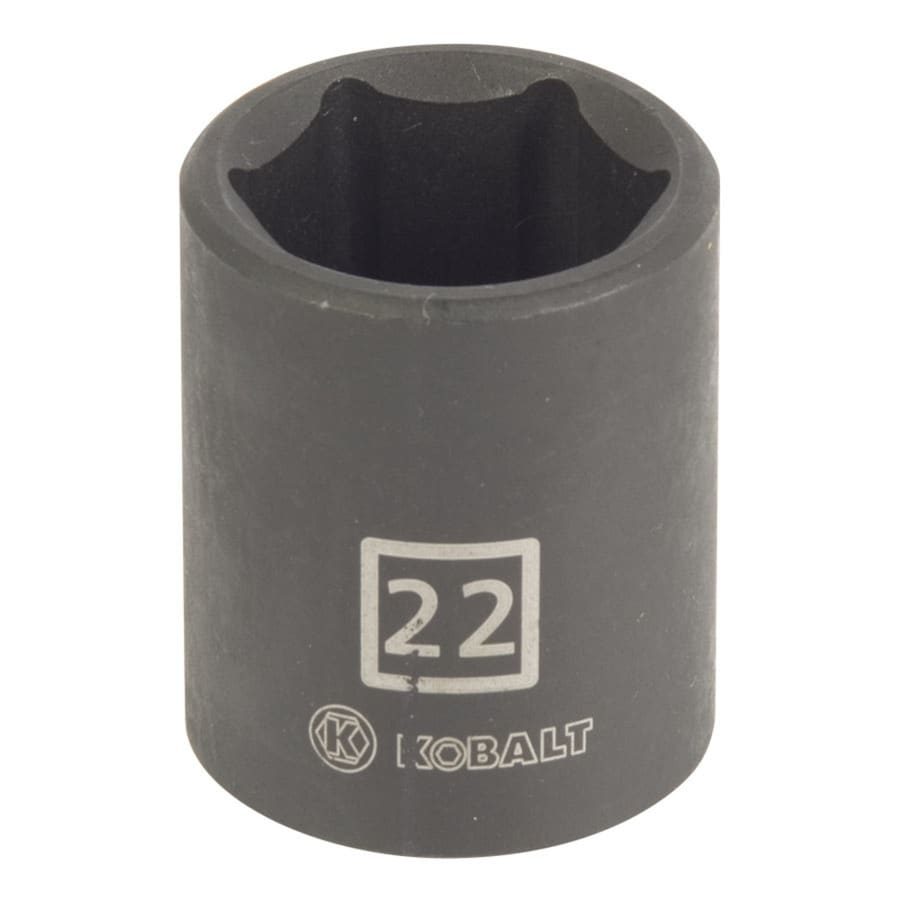 Kobalt 1/2-in Drive 22mm Shallow 6-Point Metric Impact Socket