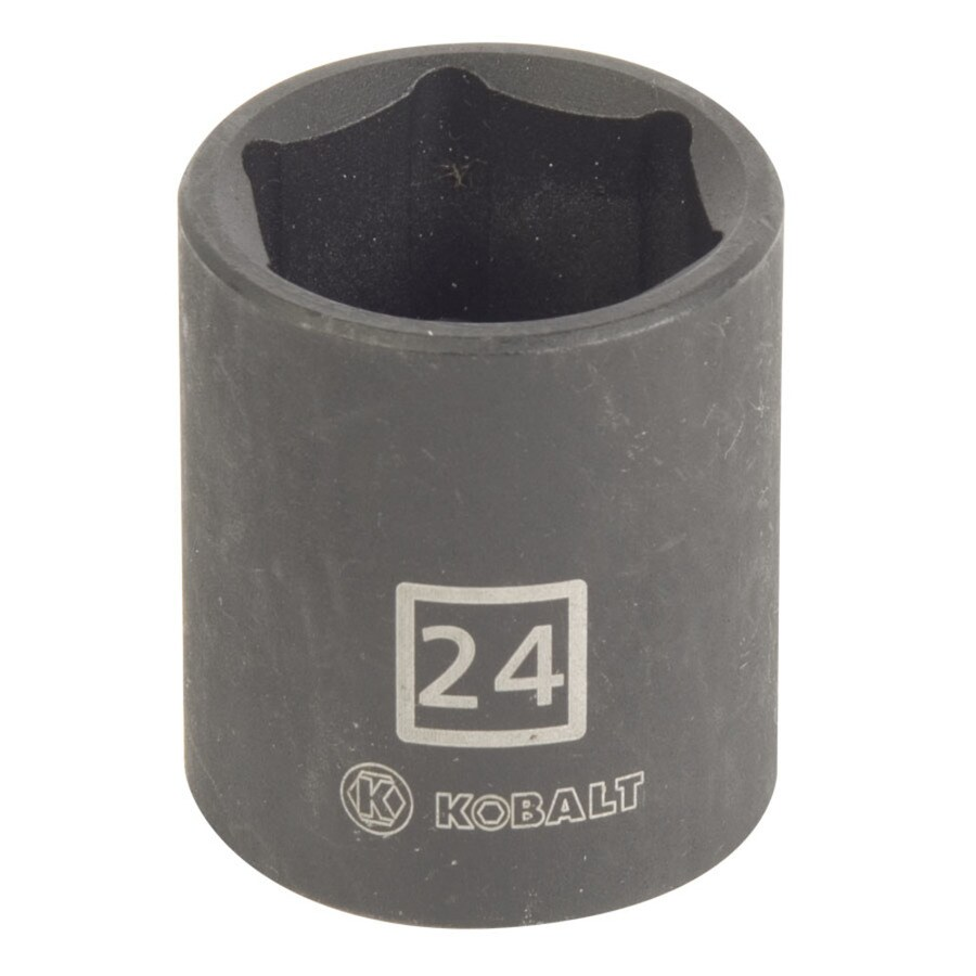 Kobalt 1/2-in Drive 24mm Shallow 6-Point Metric Impact Socket