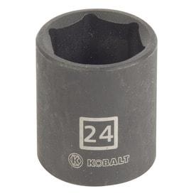 Kobalt Metric 1/2-in Drive Shallow 6-point 24mm Impact Socket