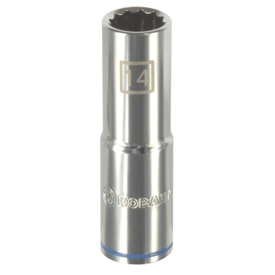 Kobalt 1/2-in Drive 14mm Deep 12-Point Metric Socket