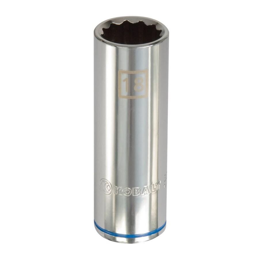 Kobalt 1/2-in Drive 18mm Deep 12-Point Metric Socket