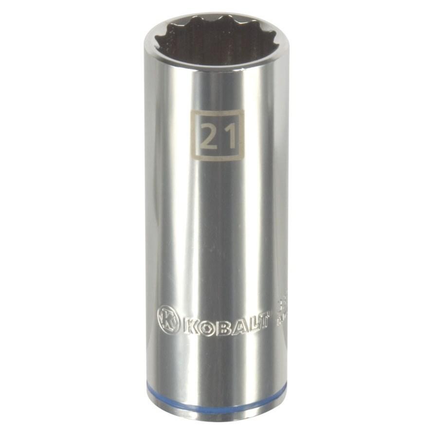 Kobalt 1/2-in Drive 21mm Deep 12-Point Metric Socket