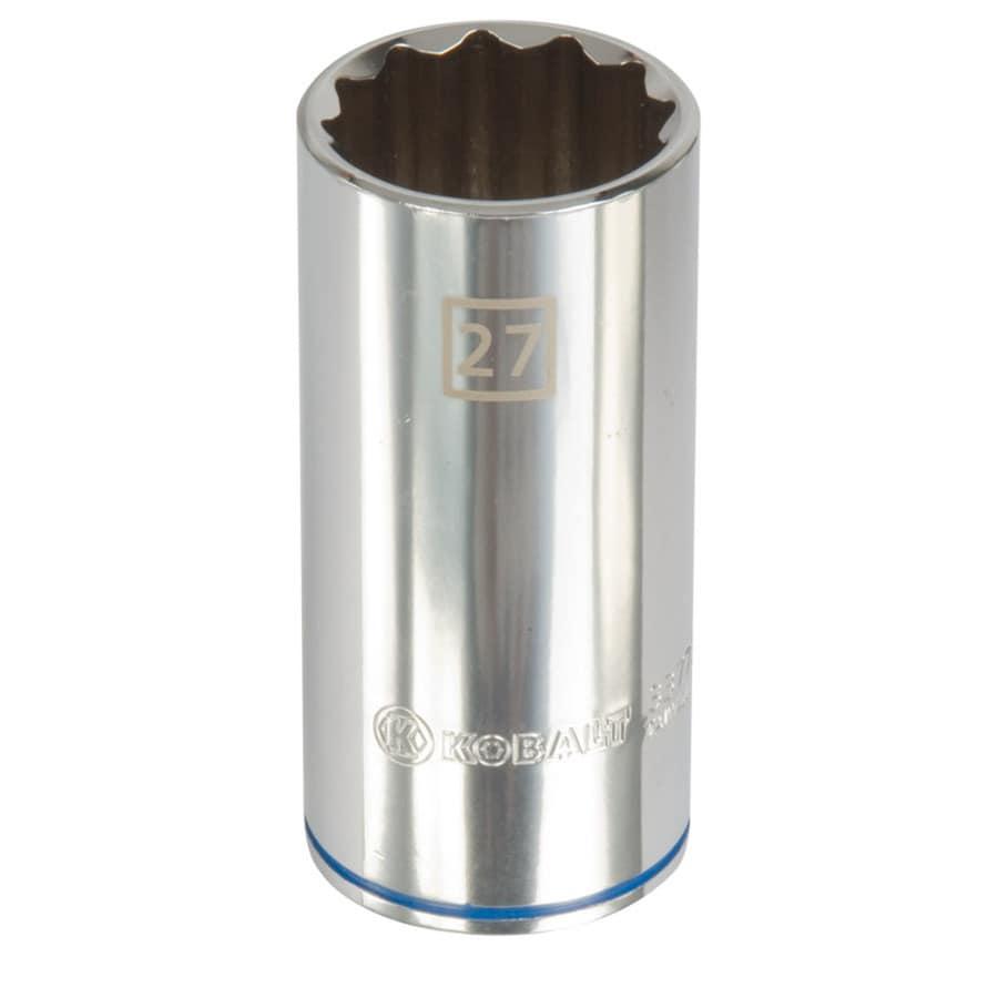 Kobalt 1/2-in Drive 27mm Deep 12-point Metric Socket
