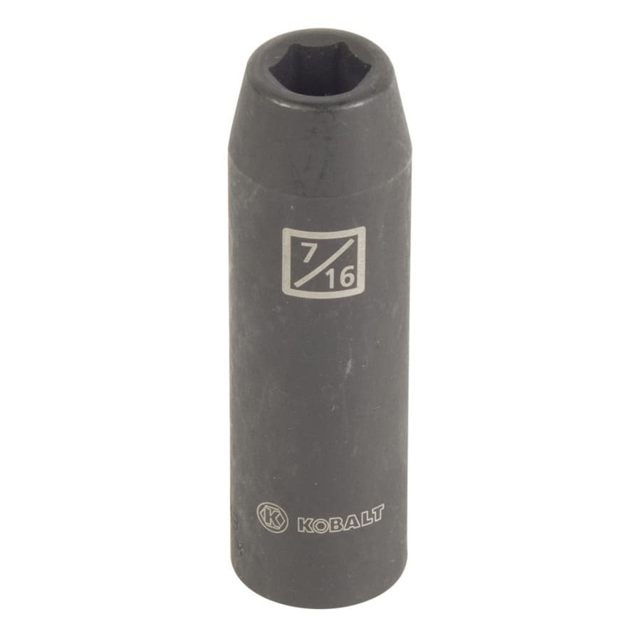 Kobalt 1/2-in Drive 7/16-in Deep 6-Point Standard (SAE) Impact Socket