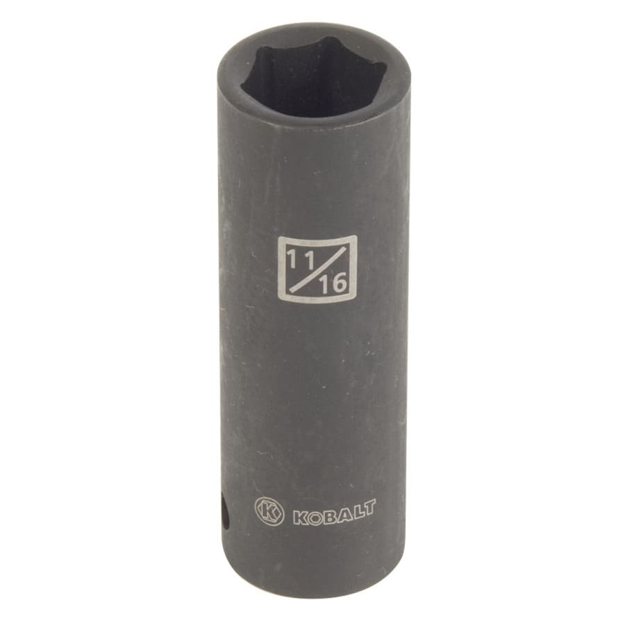 Kobalt 1/2-in Drive 11/16-in Deep 6-Point Standard (SAE) Impact Socket