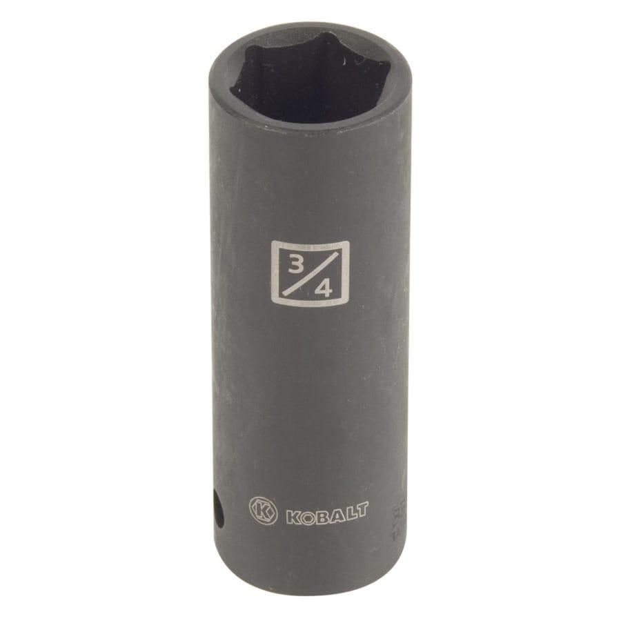 Kobalt 1/2-in Drive 3/4-in Deep 6-Point Standard (SAE) Impact Socket