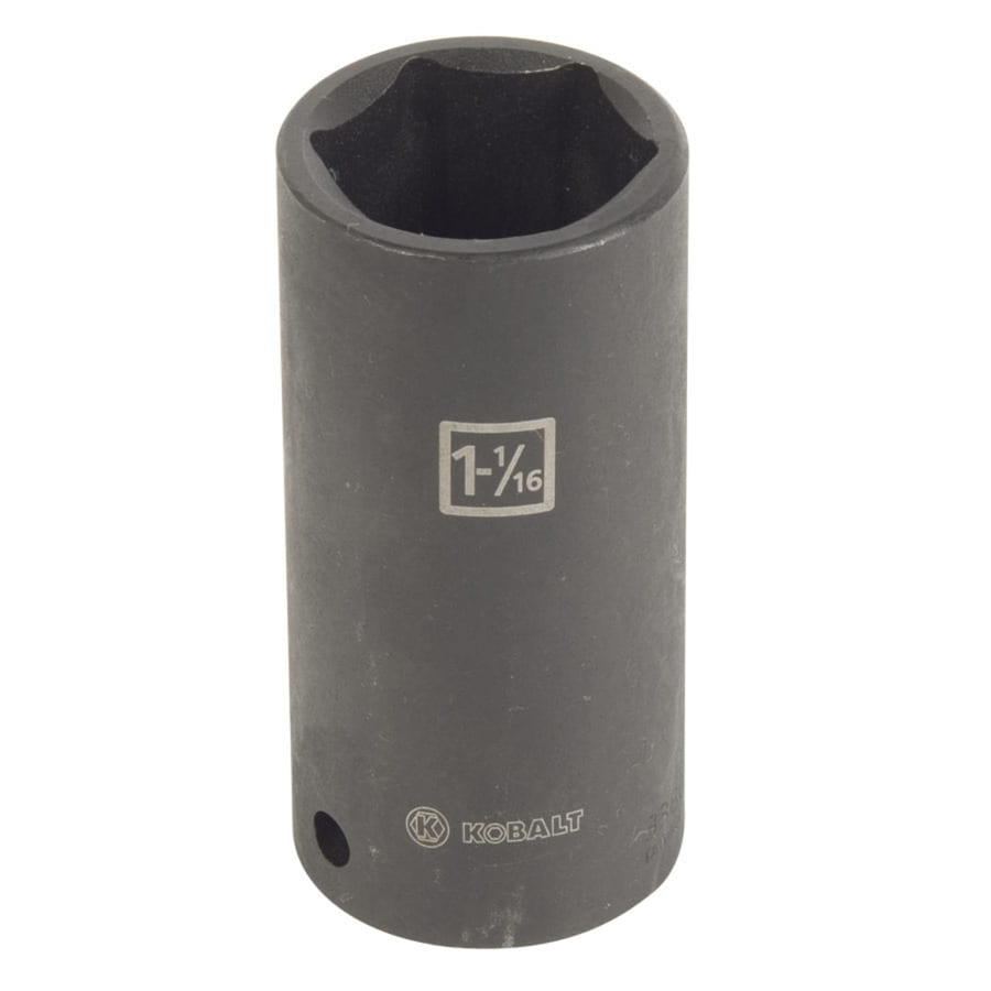 Kobalt 1/2-in Drive 1-1/16-in Deep 6-Point Standard (SAE) Impact Socket