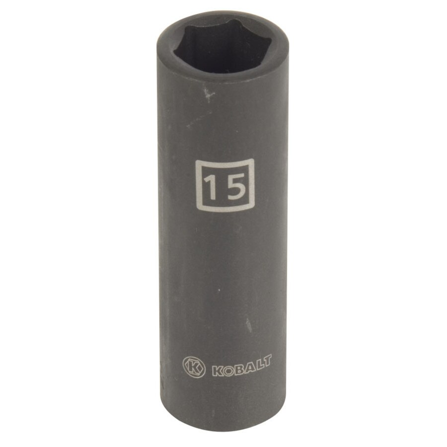 Kobalt 1/2-in Drive 15mm Deep 6-Point Metric Impact Socket