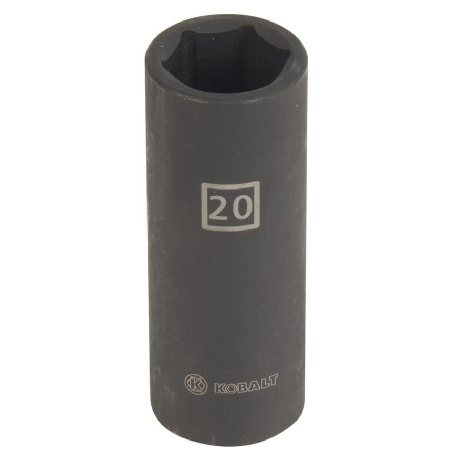 Kobalt 1/2-in Drive 20mm Deep 6-Point Metric Impact Socket