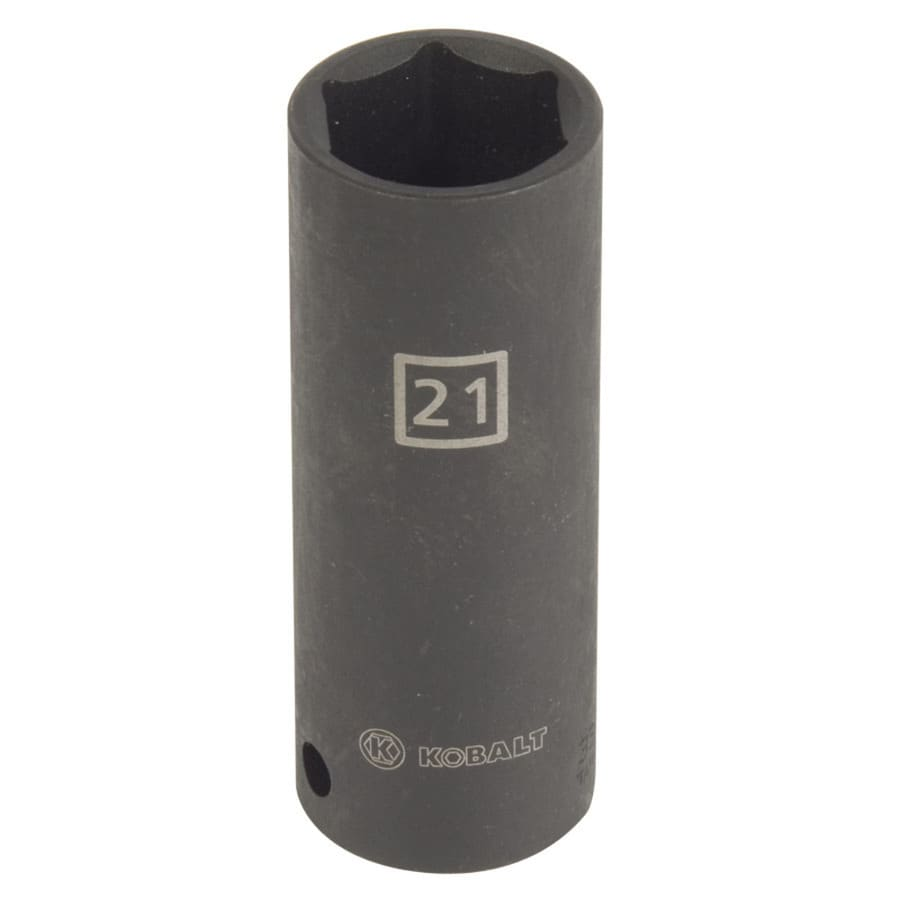 Kobalt 1/2-in Drive 21mm Deep 6-Point Metric Impact Socket