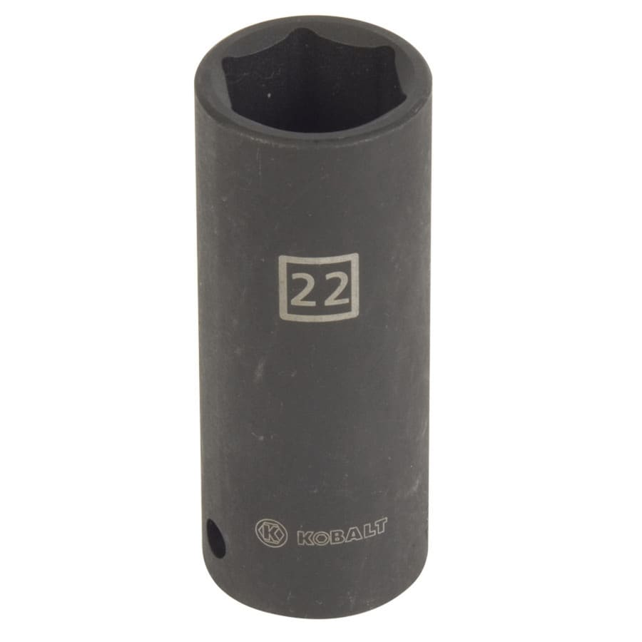 Kobalt 1/2-in Drive 22mm Deep 6-Point Metric Impact Socket