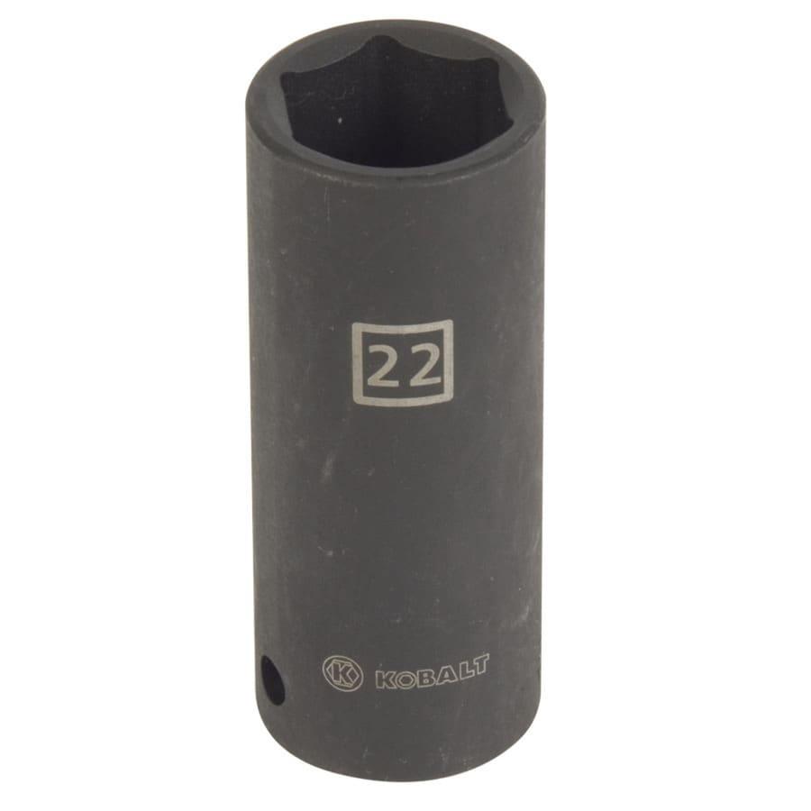 Kobalt 1/2-in Drive 22mm Deep 6-Point Metric Impact Socket