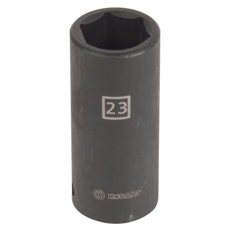 Kobalt 1/2-in Drive 23mm Deep 6-Point Metric Impact Socket