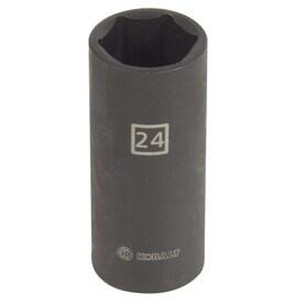 Kobalt -Piece Metric 1/2-in Drive 24mm 6-Point Impact Socket