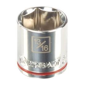 Kobalt Metric 3/8-in Drive 6-point 13/16-in Shallow Socket