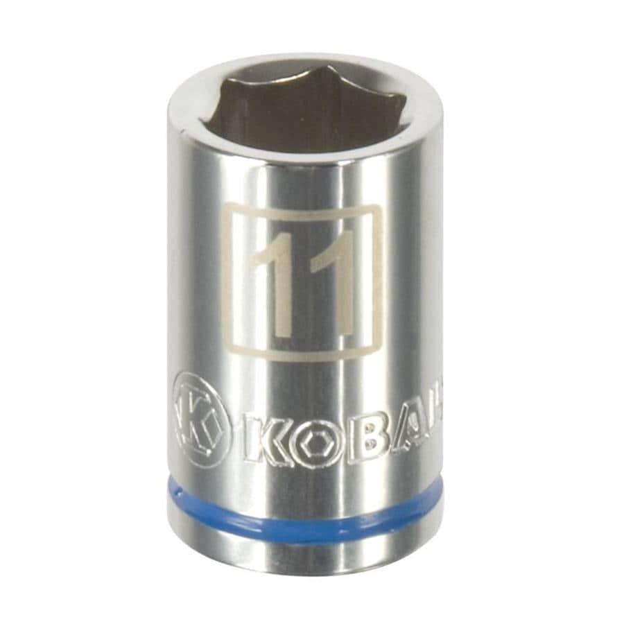Kobalt 3/8-in Drive 11mm Shallow 6-point Metric Socket