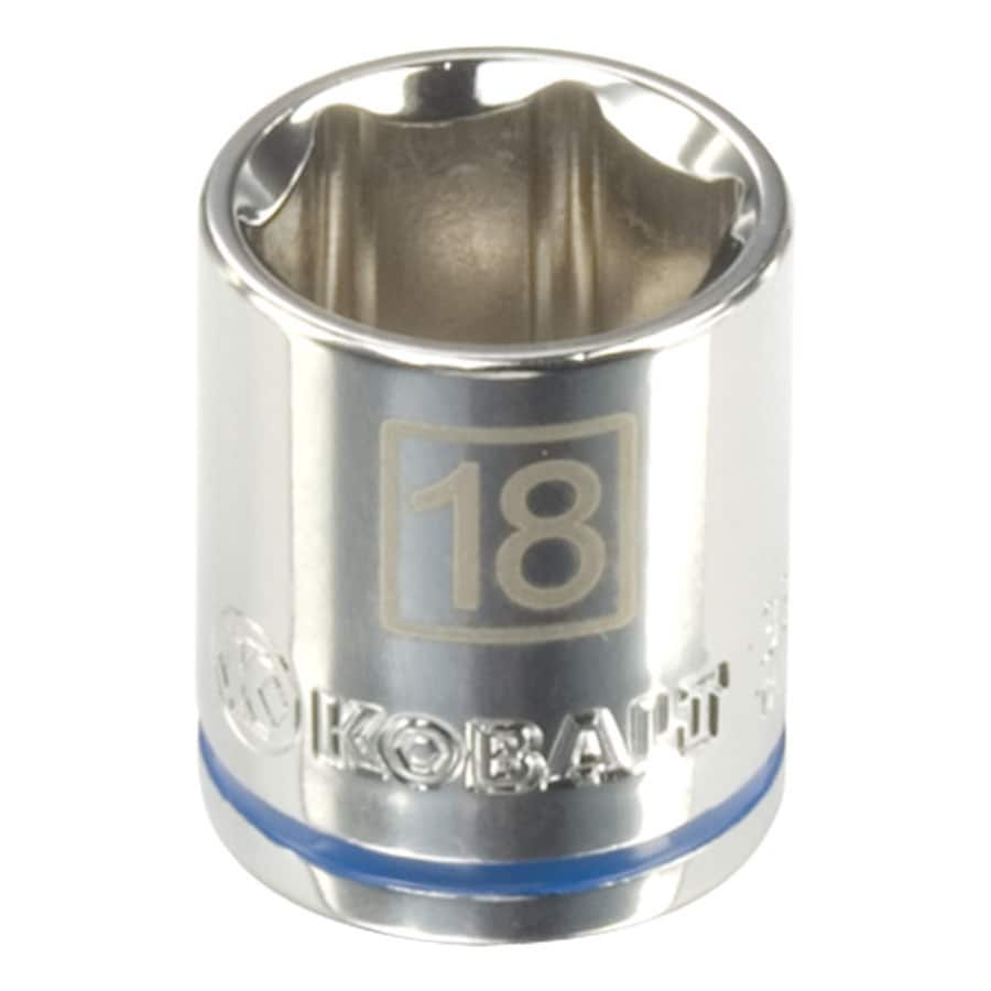 Kobalt 3/8-in Drive 18mm Shallow 6-point Metric Socket