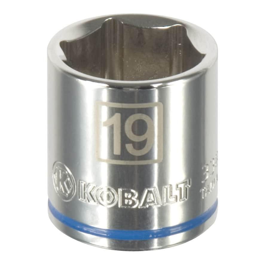 Kobalt 3/8-in Drive 19mm Shallow 6-Point Metric Socket