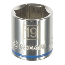 Kobalt Metric 3/8-in Drive 6-point 19mm Shallow Socket