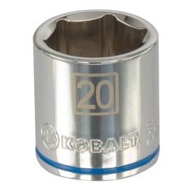 Kobalt Metric 3/8-in Drive 6-point 20mm Socket