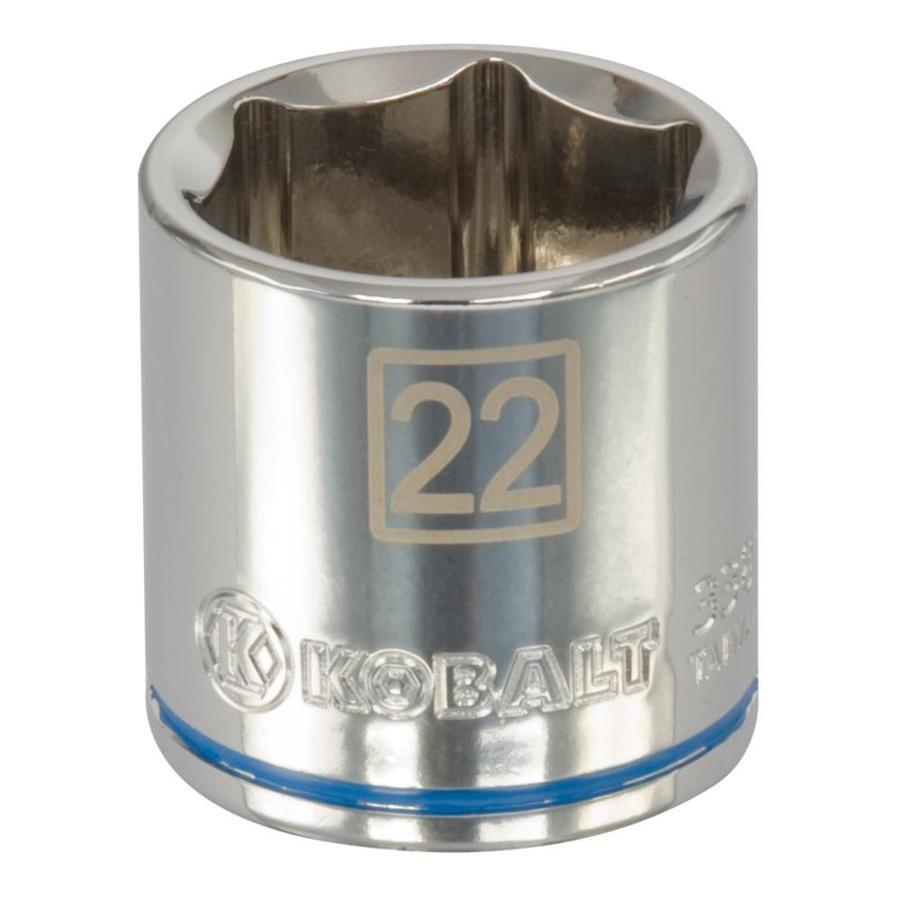 Kobalt 3/8-in Drive 22mm Shallow 6-Point Metric Socket