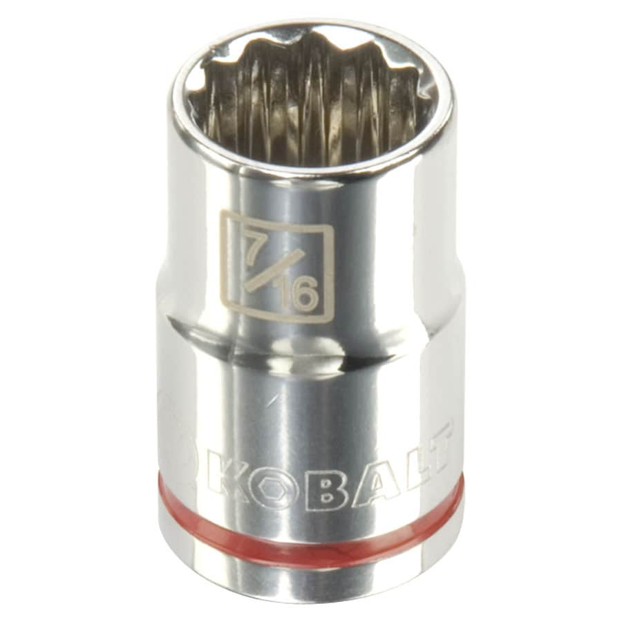 Kobalt 3/8-in Drive 7/16-in Shallow 12-Point Standard (SAE) Socket