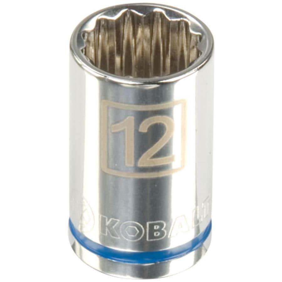 Kobalt 3/8-in Drive 12mm Shallow 12-Point Metric Socket