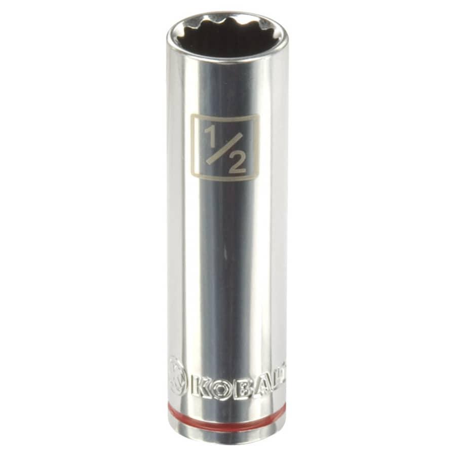 Kobalt 3/8-in Drive 1/2-in Deep 12-Point Standard (SAE) Socket