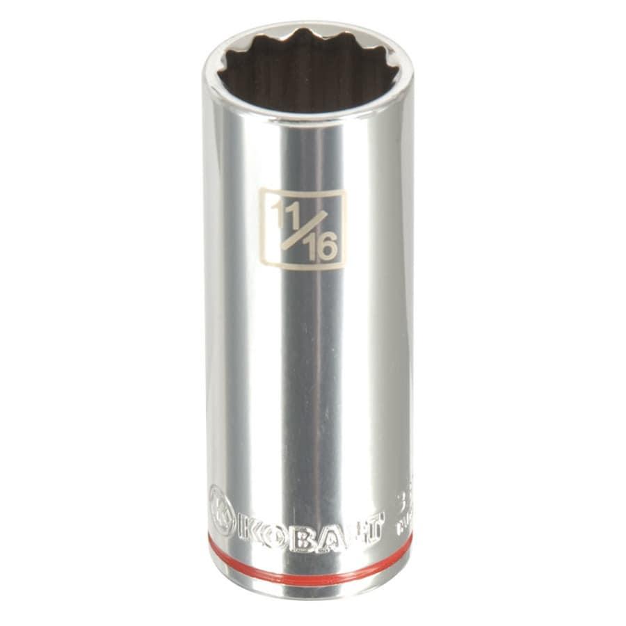Kobalt 3/8-in Drive 11/16-in Deep 12-point Standard (SAE) Socket