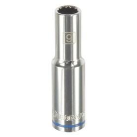 Kobalt Metric 3/8-in Drive 12-point 9mm Deep Socket