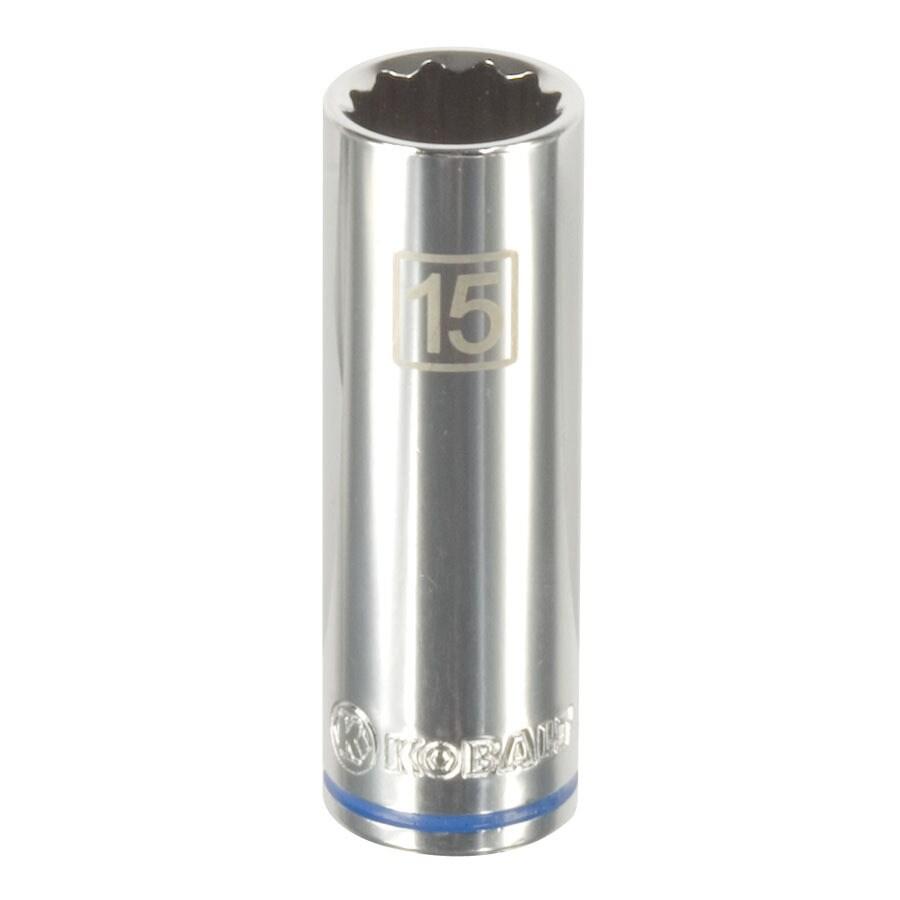 Kobalt 3/8-in Drive 15mm Deep 12-Point Metric Socket