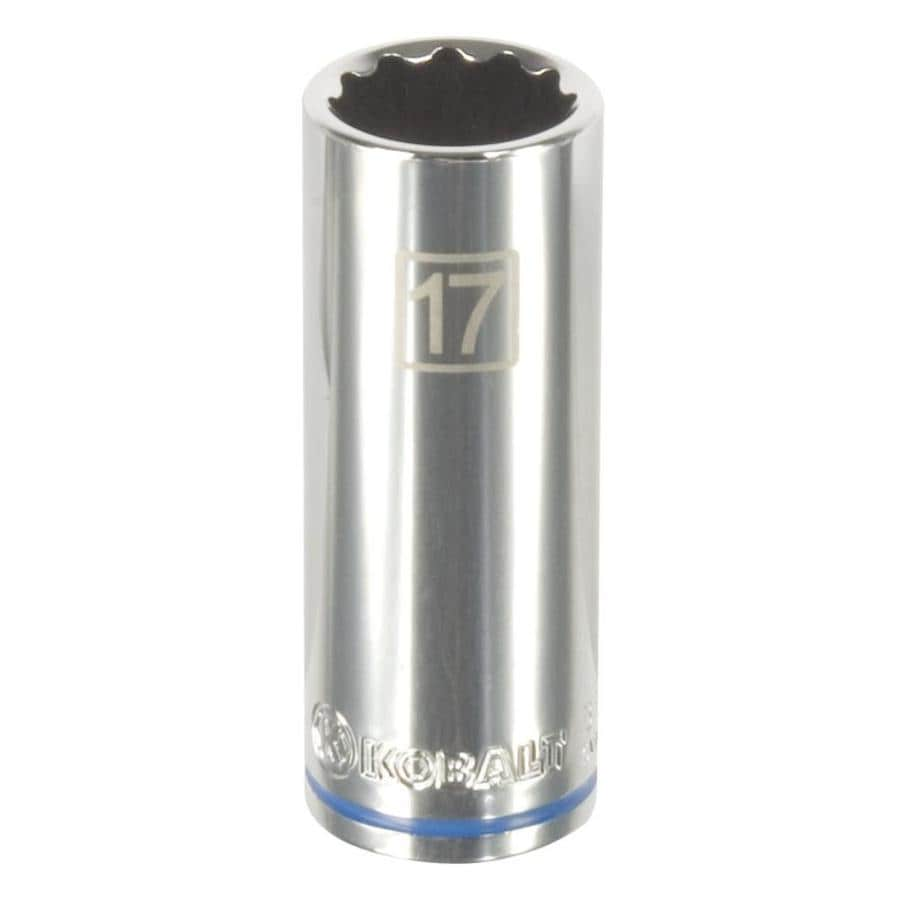 Kobalt 3/8-in Drive 17mm Deep 12-Point Metric Socket