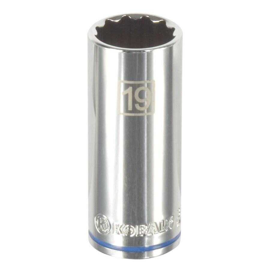 Shop Kobalt 3 8 In Drive 19mm Deep 12 Point Metric Socket
