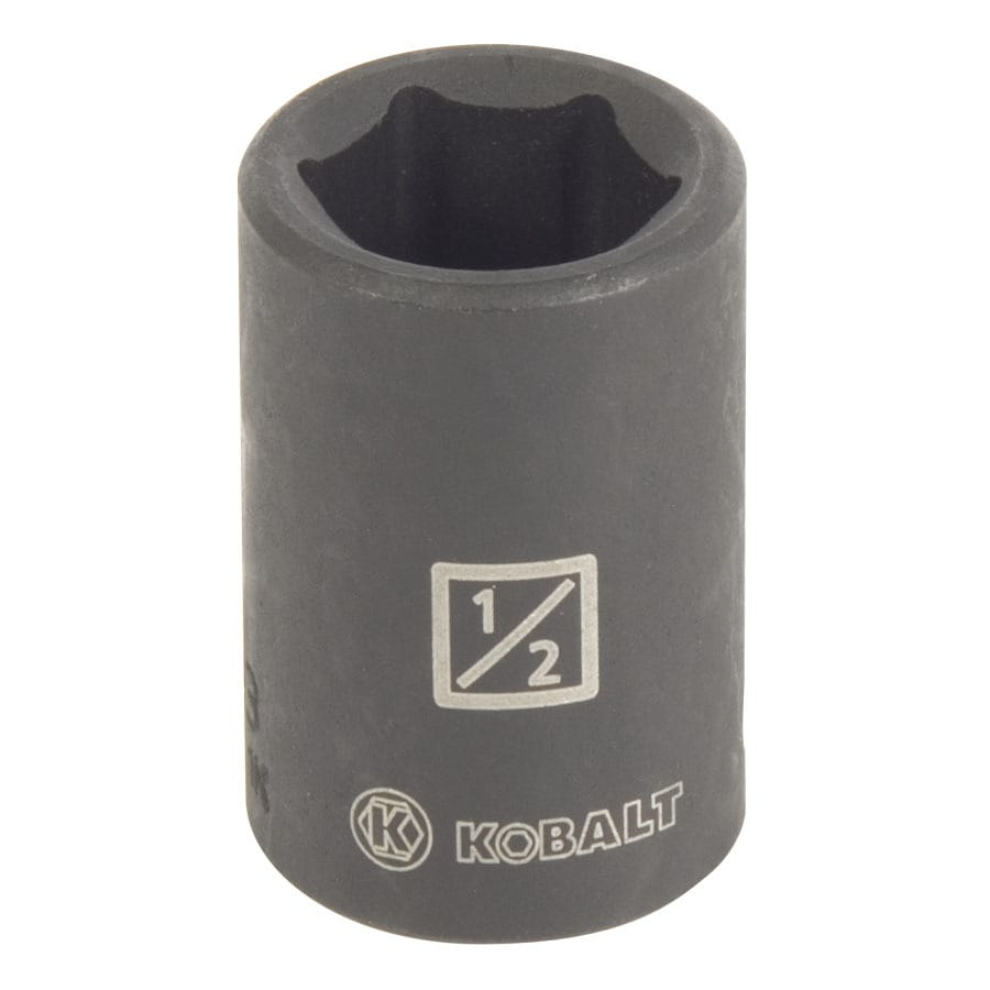 Kobalt 3/8-in Drive 1/2-in Shallow Standard (SAE) Impact Socket