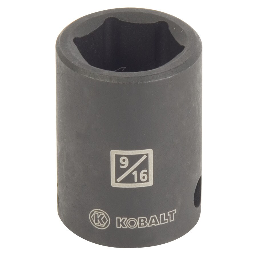 Kobalt 3/8-in Drive 9/16-in Shallow Standard (SAE) Impact Socket