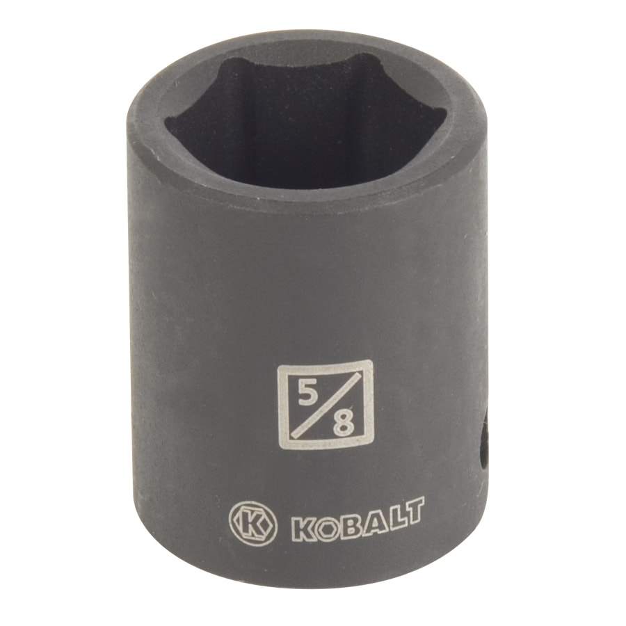 Kobalt 3/8-in Drive 5/8-in Shallow Standard (SAE) Impact Socket