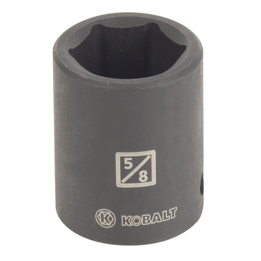 Kobalt 3/8-in Drive 5/8-in Shallow Standard (SAE) Impact Socket
