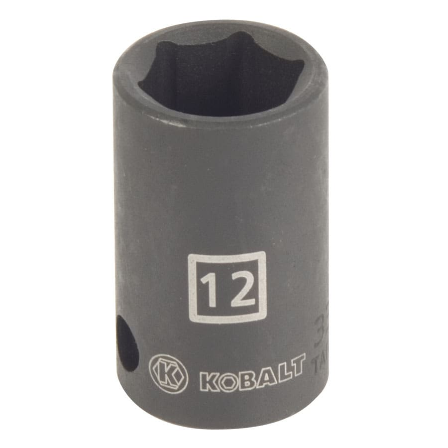 Kobalt 3/8-in Drive 12mm Shallow 6-Point Metric Impact Socket